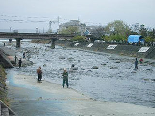 白田川の釣り大会