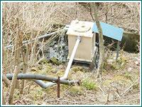源水タンクの清掃